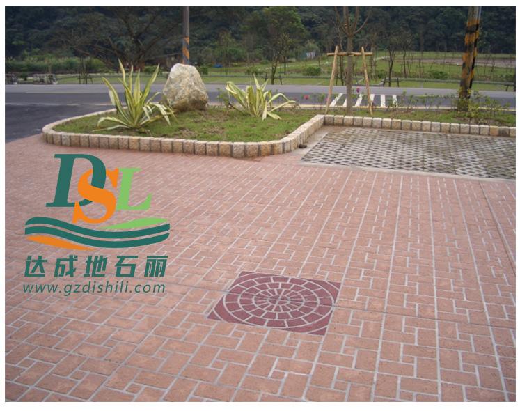 3d立体纸模彩绘地坪,彩绘石艺术地坪,市政路面防滑地坪