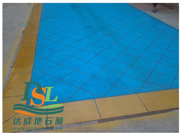 小区3d立体纸模彩绘地坪,彩绘石艺术地坪市政路面防滑地坪